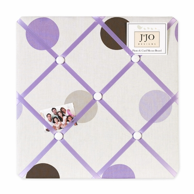 Mod Dots Purple  Fabric Memo Board