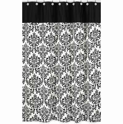 Isabella Black and White Collection Shower Curtain