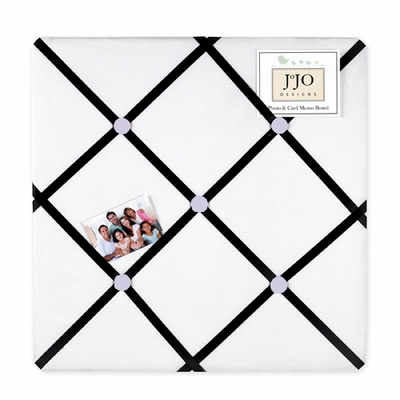 Princess Black, White and Purple Collection Fabric Memo Board