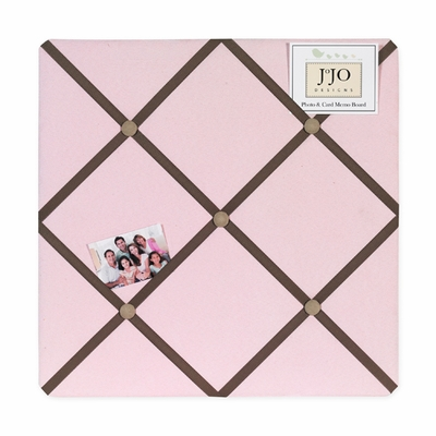 Soho Pink and Brown  Fabric Memo Board