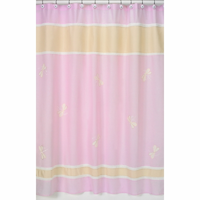 Pink Dragonfly Dreams Shower Curtain