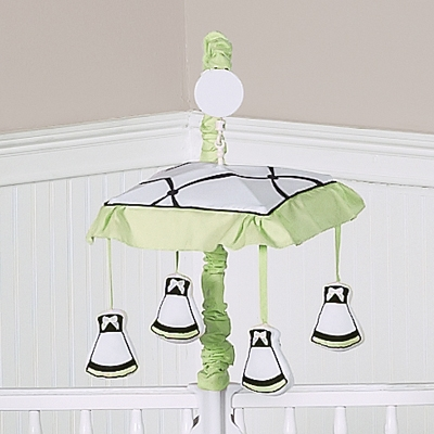 Princess Black, White and Green Collection Musical Mobile