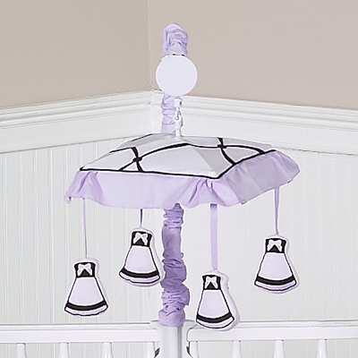 Princess Black, White and Purple Collection Musical Mobile