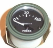 Gauge, oil pressure, rubber connectors, 24 volt, 0-60 psi