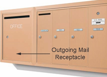 Apartment Vertical Outgoing Letter Box