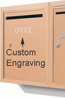 Apartment Outgoing Letter Box Engraving
