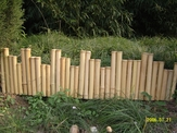 Bamboo Border Edging Natural 1'x 8'