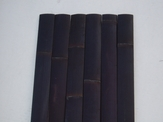 "25 Black Bamboo Flat Slats 1.75""x8ft"