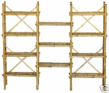 Shelf System Expanded Bamboo Display Unit