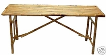 5ft. Zen Bamboo Folding Table