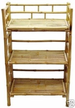 Shelf Bar 3 Tier bamboo Shelves Bookcase