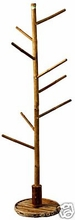 Retail Bamboo Clothing Rack Commercial Display
