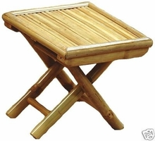 """Small 11"""" Bamboo Plant Stand or Foot Stool"""