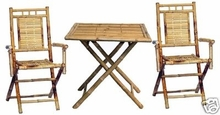 Square 3 Pc. Table and Chairs Bamboo Set