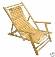 2-Chaise Recliner Bamboo Lounge Chairs