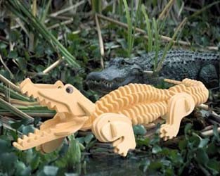Alligator 3D Wooden Puzzle