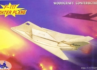 F-117 Nighthawk Stealth Fighter 3D Wooden Puzzle