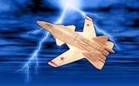SU-47 Berkut (Golden Eagle) fighter 3D Wooden Puzzle