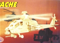 Apache Helicopter 3D Wooden Puzzle