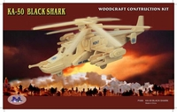 Black shark Helicopter 3D Wooden Puzzle