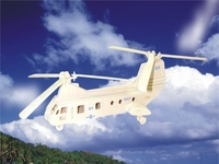 Sea Knight Helicopter 3D Wooden Puzzle