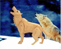 Grey Wolf 3D Wooden Puzzle