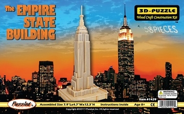 The Empire State Building 3D Wooden Puzzle