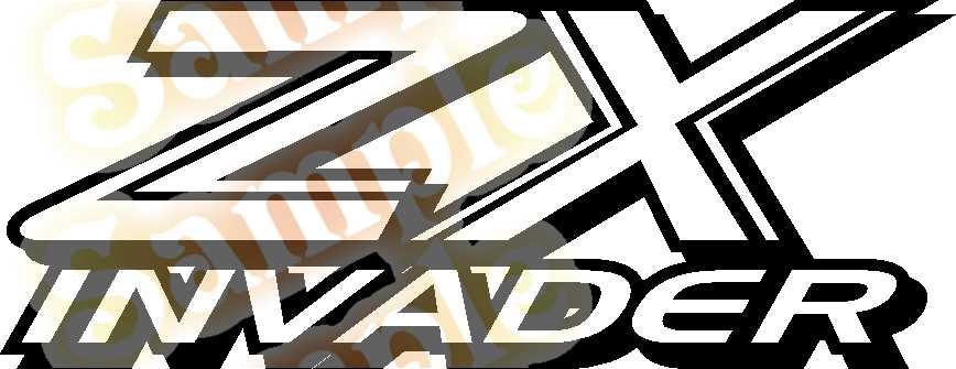 ZX INVADER Vinyl Decal Car Performance Stickers