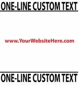 One Line Custom Text vinyl decal sticker