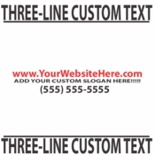 Three Line Custom Text vinyl decal sticker