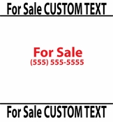 For Sale Custom Text vinyl decal sticker