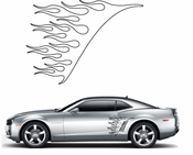 Flames Flame car flames Vinyl Decal Sticker Stickers MC03