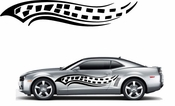 Racing Car Graphics pinstirpes Window Vinyl Car Wall Decal Sticker Stickers 09