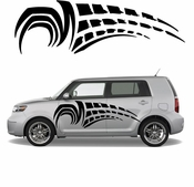 Racing Car Graphics pinstirpes Window Vinyl Car Wall Decal Sticker Stickers 17