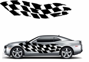 Racing Car Graphics pinstirpes Window Vinyl Car Wall Decal Sticker Stickers 23