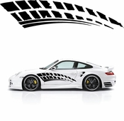 Racing Car Graphics pinstirpes Window Vinyl Car Wall Decal Sticker Stickers 25