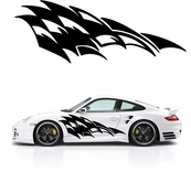 Racing Car Graphics pinstirpes Window Vinyl Car Wall Decal Sticker Stickers 27