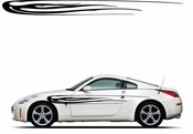 Racing Car Graphics pinstirpes Window Vinyl Car Wall Decal Sticker Stickers 36
