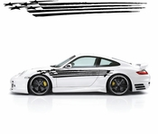 Racing Car Graphics pinstirpes Window Vinyl Car Wall Decal Sticker Stickers 50
