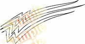 Racing Car Graphics pinstirpes Window Vinyl Car Wall Decal Sticker Stickers 72