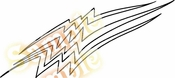 Racing Car Graphics pinstirpes Window Vinyl Car Wall Decal Sticker Stickers 73