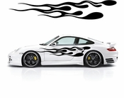 Racing Car Graphics pinstirpes Window Vinyl Car Wall Decal Sticker Stickers 132