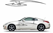 Racing Car Graphics pinstirpes Window Vinyl Car Wall Decal Sticker Stickers 140