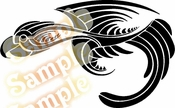 Tribal Pinstripes Car Graphics Window Vinyl Car Wall Decal Sticker Stickers MC73