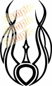 Tribal Pinstripes Car Graphics Window Vinyl Car Wall Decal Sticker Stickers MC117