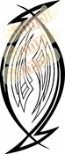 Tribal Pinstripes Car Graphics Window Vinyl Car Wall Decal Sticker Stickers MC126