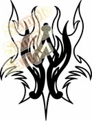 Tribal Pinstripes Car Graphics Window Vinyl Car Wall Decal Sticker Stickers MC146
