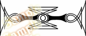 Tribal Pinstripes Car Graphics Window Vinyl Car Wall Decal Sticker Stickers MC166