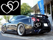 Hearts Vinyl Decal Car Performance Stickers