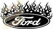 FLAME FORD Vinyl Decal Car Performance Stickers